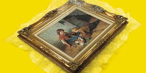 painting in a gold frame