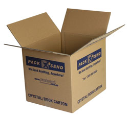 PACK & SEND book crystal carton